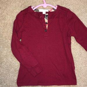 Burberry girls long sleeve shirt